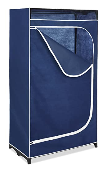 Nice Whitmor Clothes Closet 36u201d With Blue Cover