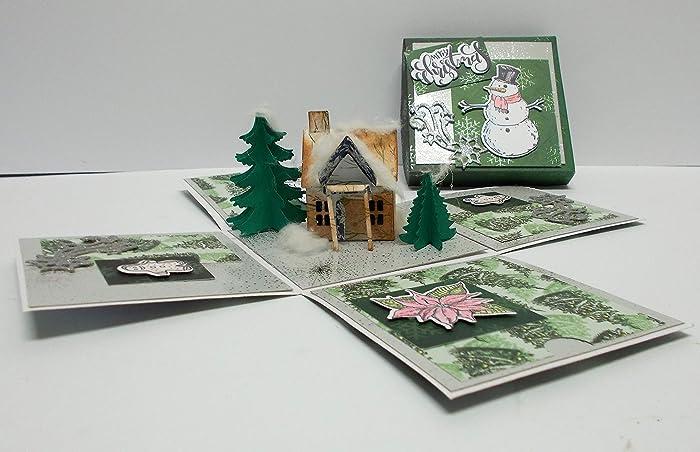 Explosionsbox Weihnachten Pop Up Box Weihnachten Geldgeschenk