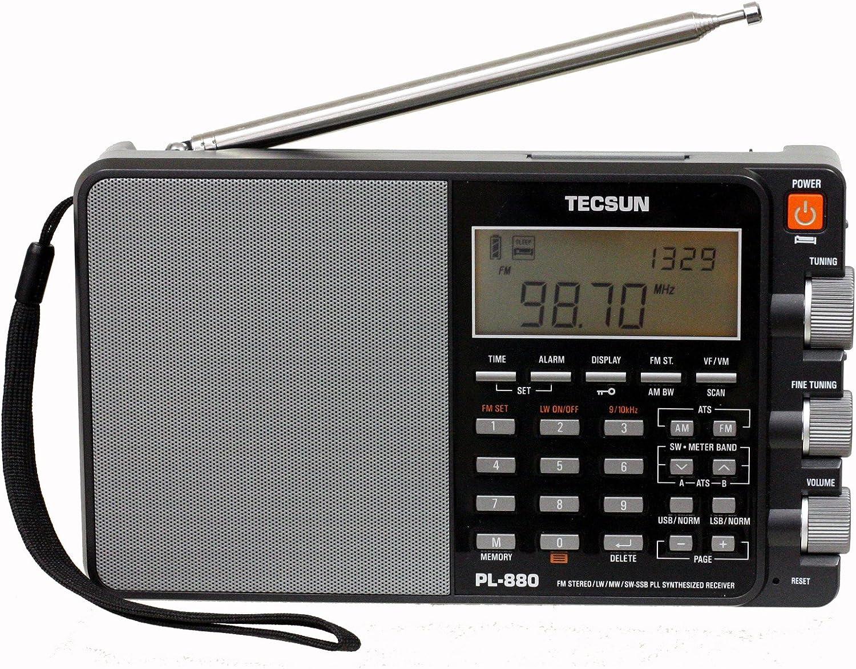 Tecsun PL880 Portable Digital PLL Dual Conversion AM/FM, Longwave & Shortwave Radio with SSB (Single Side Band) Reception: Home Audio & Theater