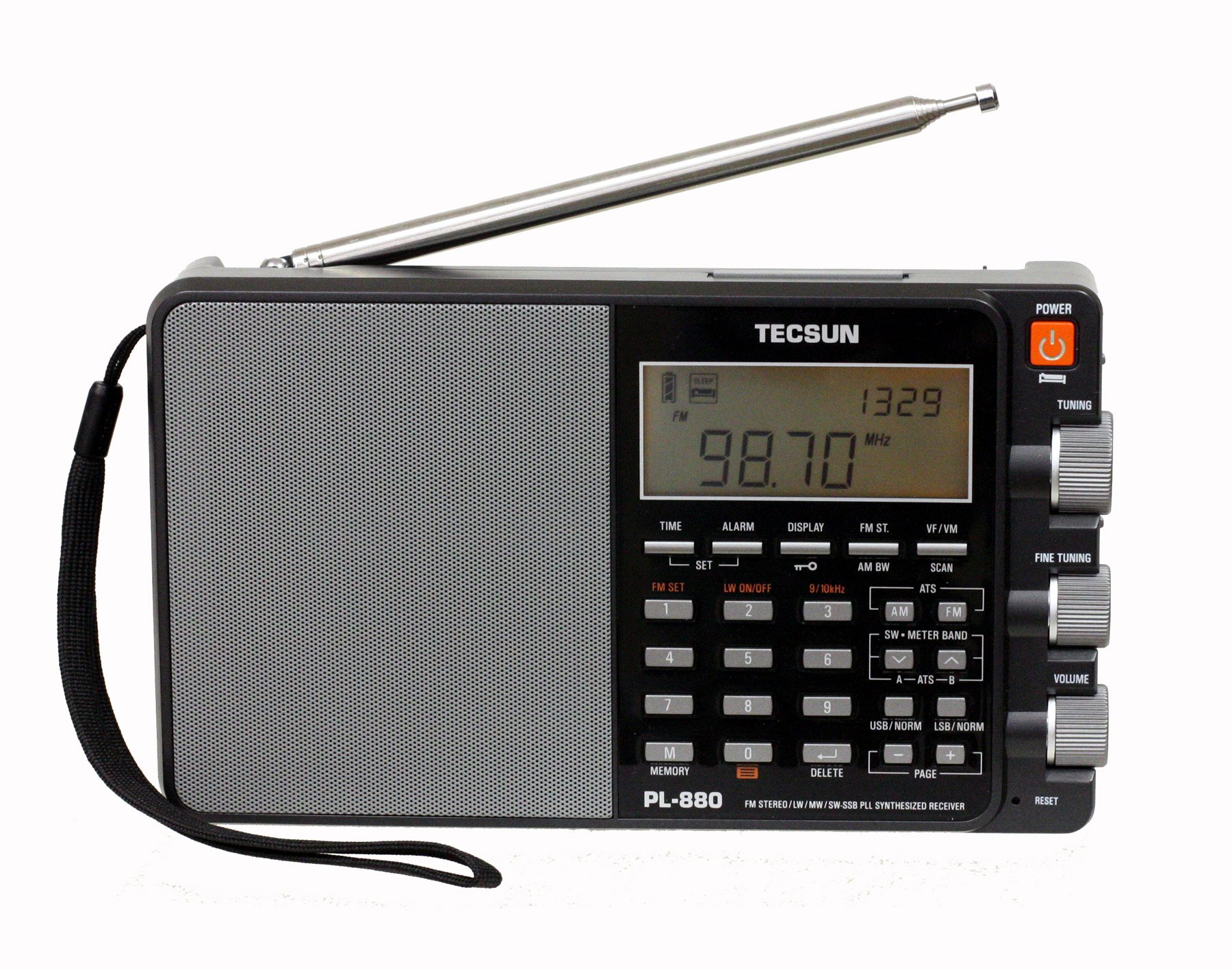 Tecsun PL880 Portable Digital PLL Dual Conversion AM/FM, Longwave & Shortwave Radio with SSB (Single Side Band) Reception by Tecsun