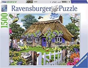 Ravensburger Cottage in England 1500 Piece Jigsaw Puzzle for Adults – Softclick Technology Means Pieces Fit Together Perfectly