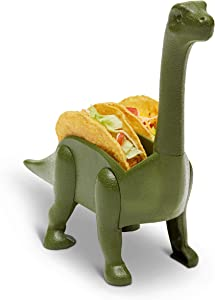 Kid at Heart Crafts Dinosaur Food Holder - Brontosaurus - Dino Taco Holder- Fun Kitchen Gadgets - - Taco Tuesdays Holder Party Accessory – Green