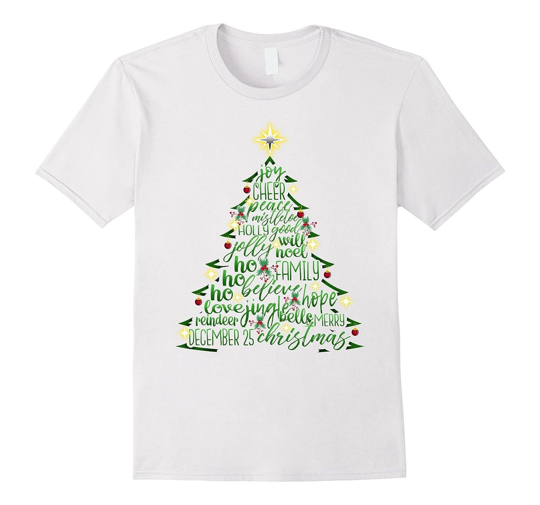 Christmas Designs.Christmas Tree Word Design Costume T Shirt Anz