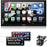 Hieha Car Stereo Compatible with Apple Carplay and Android Auto, 7 Inch Double Din Car Stereo with Bluetooth, Touch Screen Ca