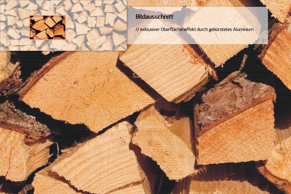 Wallario Wand-Bild 70 x x x 100 cm   Motiv  Holzstapel gehackt - Holzscheite für den Kamin   Direktdruck auf 5mm starke Hartschaumplatte   leichtes Material   günstig 35cfab