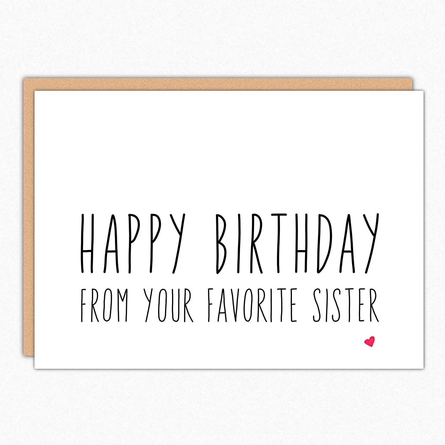 Amazon Funny Birthday Card For Brother 068 From Your Favorite Sister Handmade