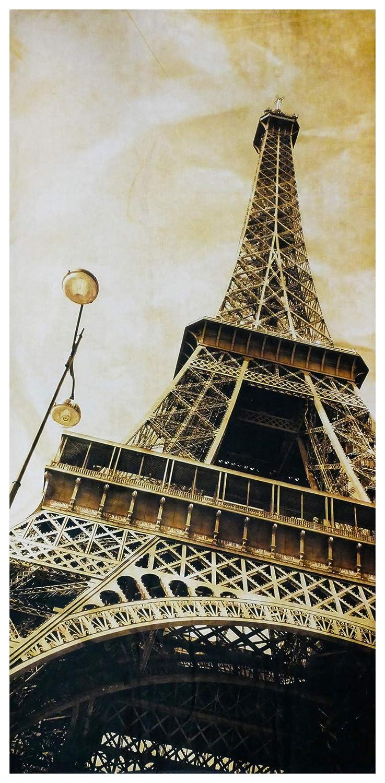 Grande 70x140 cm UniqueTowel Telo Asciugamano Bagno Doccia Motivo Parigi Torre Eiffel Vintage