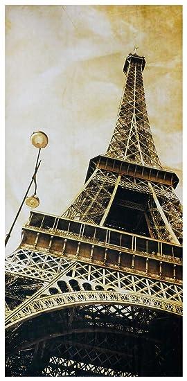 UniqueTowel Toalla de baño Ducha - Torre Eiffel París Vintage - Grande 70x140 cm: Amazon.es: Hogar