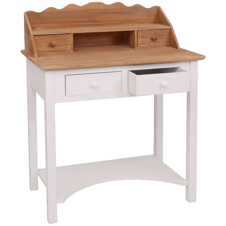 Style Campagne 102x77x48cm Bureau Table de Travail Mendler Secr/étaire HWC-B96