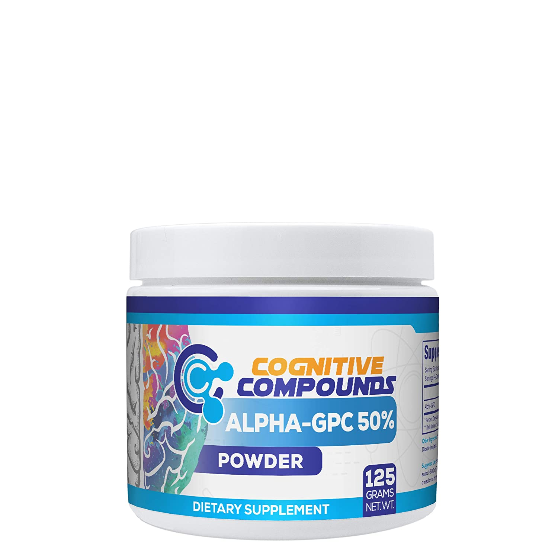 Alpha-GPC Powder 125 Grams – Nootropic Brain Health Supplement – Promotes Enhanced Memory, Learning Focus – Hard Rhino