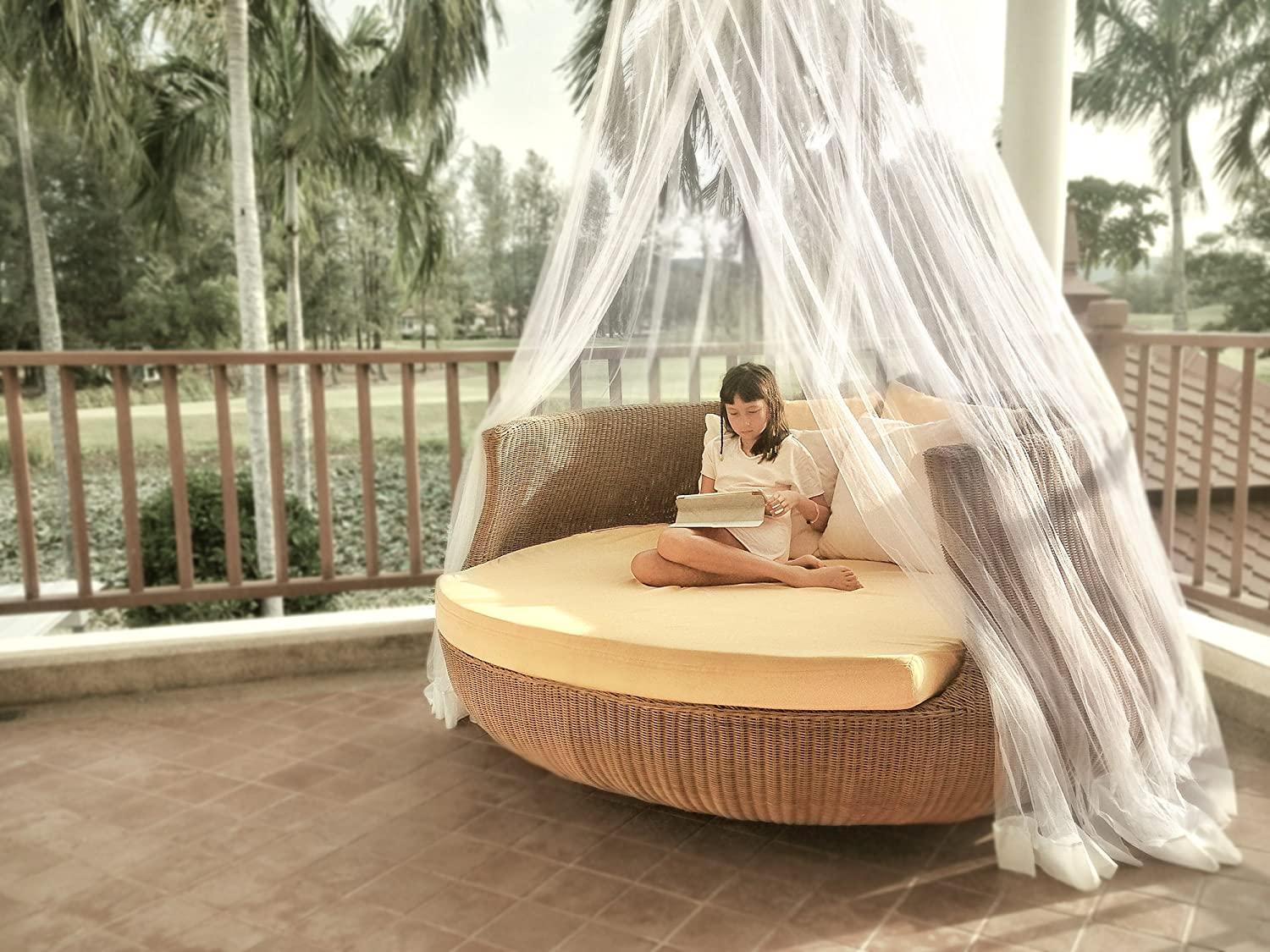 Timbuktoo Mosquito Nets Luxury Mosquito NET - for King to Single Size Beds Quick and Easy Installation System - Unique Internal Loop - 2 Entries - Ripstop Stuff Sack - No Added Chemicals.: Home & Kitchen