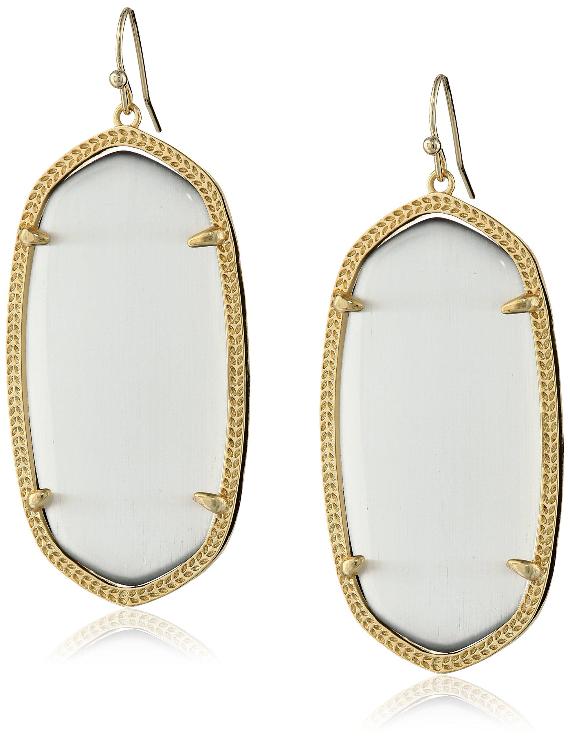 Kendra Scott''Signature'' Danielle Gold plated Slate Glass Drop-Earrings