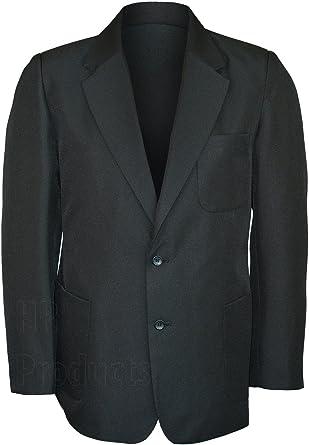 6751e7164 NEW Boys School Blazer Classic Uniform Blazers Black  Amazon.co.uk ...