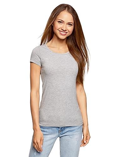 oodji Ultra Mujer Camiseta Básica (Pack de 10 Unidades)