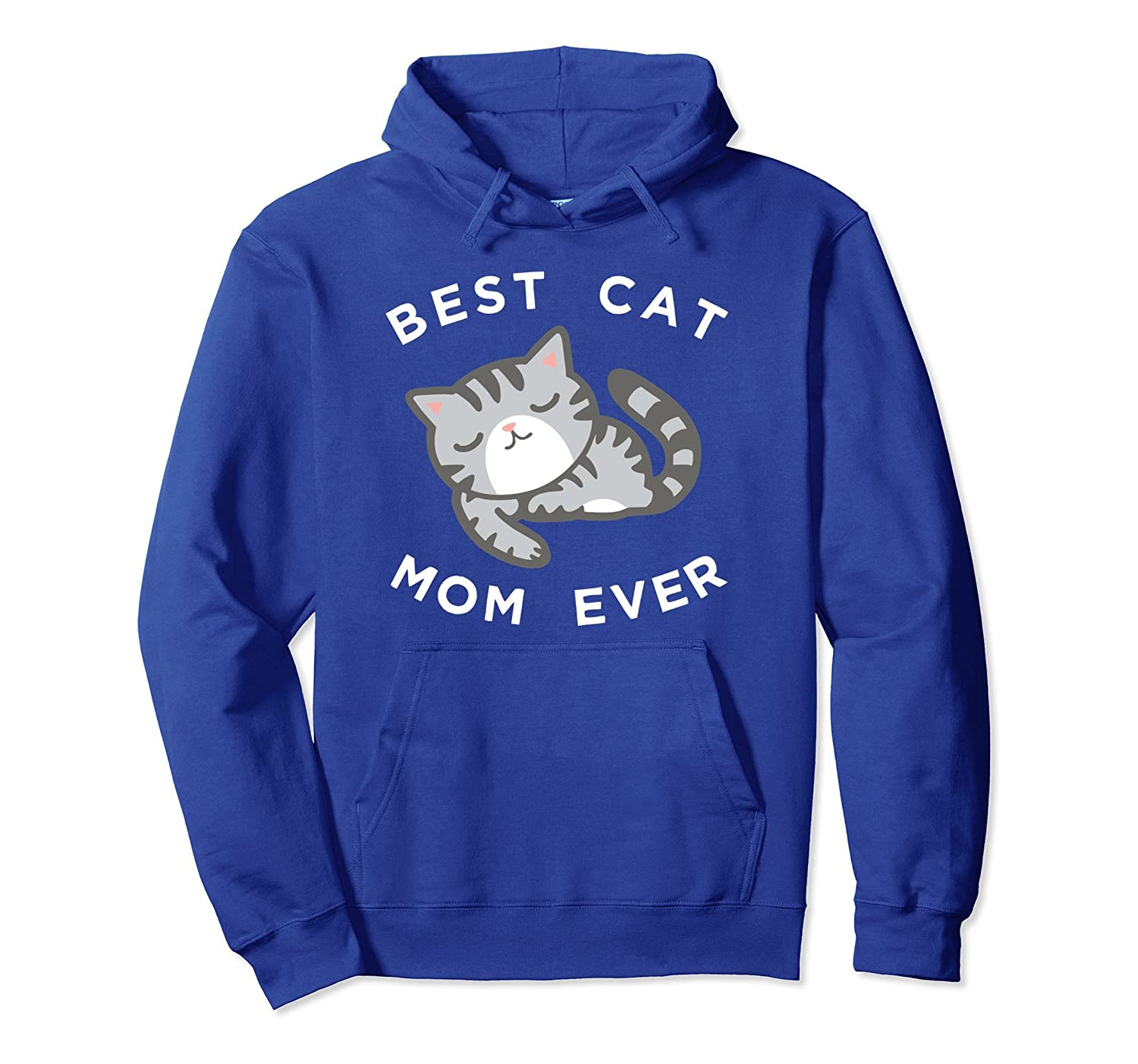 Gray Cat Mom Hoodie, Best Kitty Mother Ever Apparel Gift-alottee gift