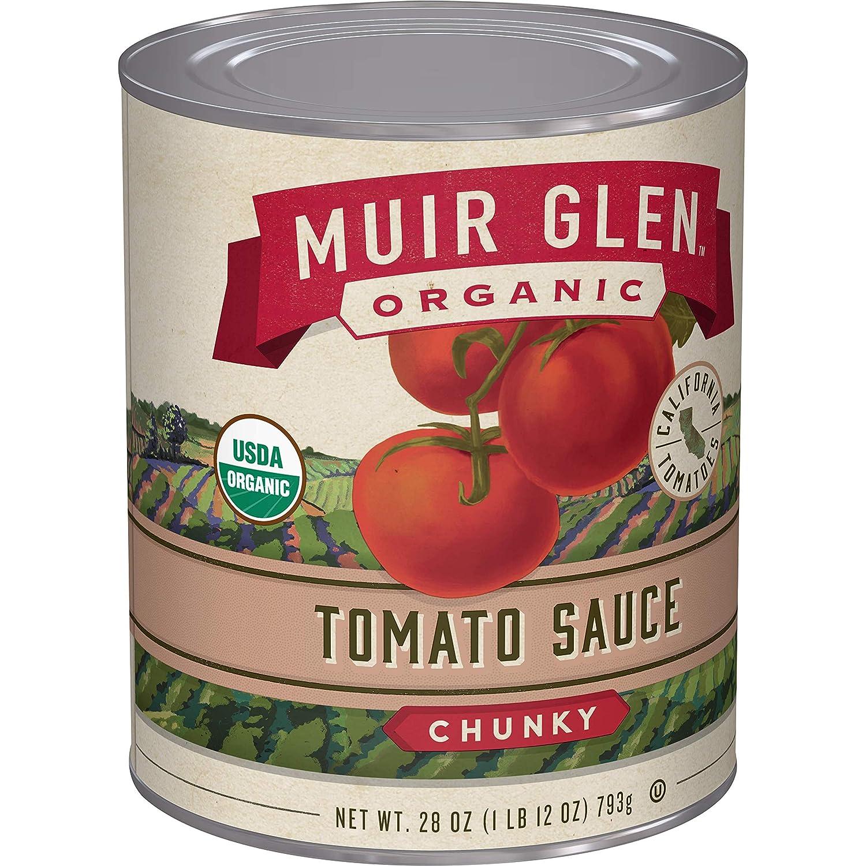 Muir Glen Organic Chunky Tomato Sauce, 28 oz (Pack of 12)