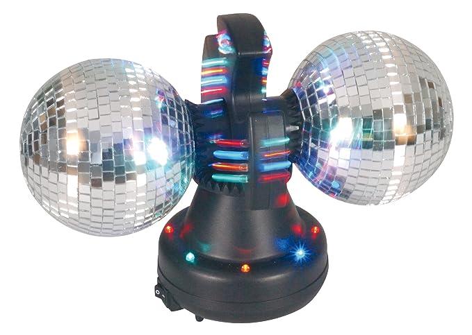 1f8e2a146d Naeve Leuchten 539261 - Lámpara de discoteca con cristales efecto espejo  (32 ledes que cambian de color, ...