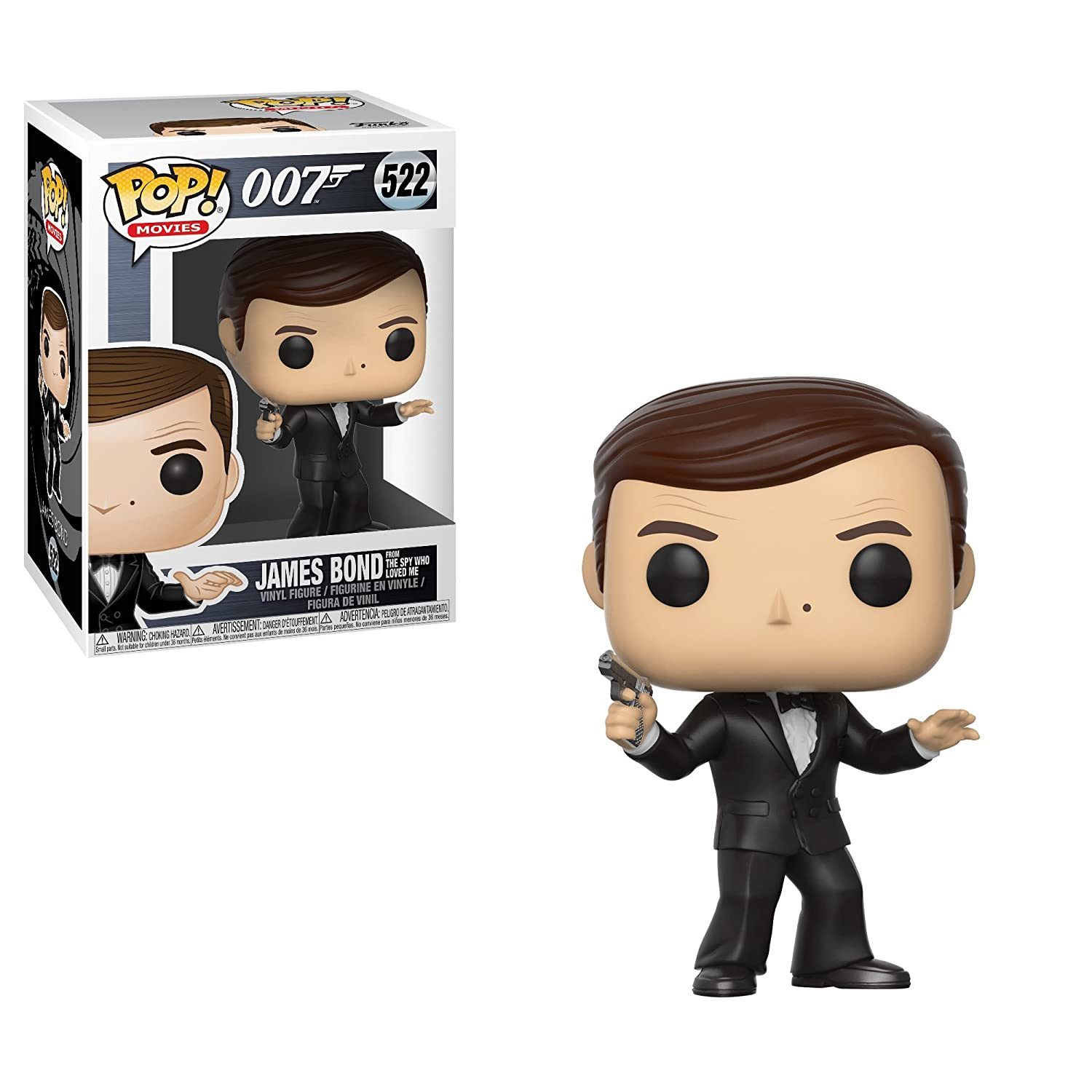 Funko Pop!- 24701 James Bond Roger Moore Figura de Vinilo, Multicolor