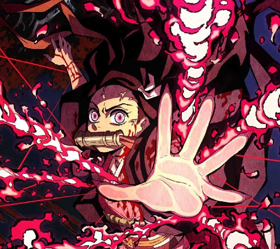 鬼滅の刃 竈門禰豆子 (かまどねずこ) 血鬼術 爆血 Android(960×854)待ち受け画像