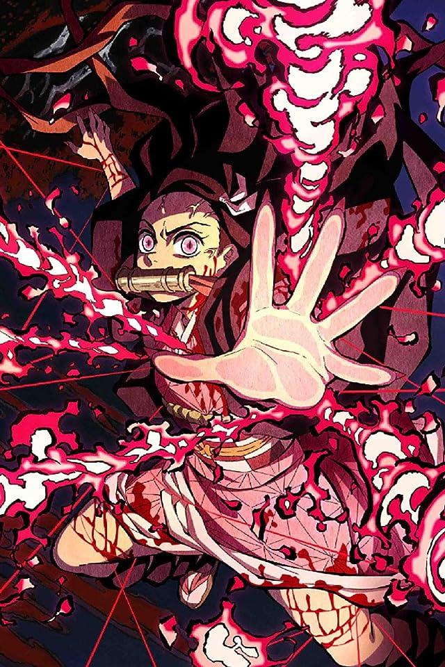 鬼滅の刃 竈門禰豆子 (かまどねずこ) 血鬼術 爆血 iPhone(640×960)壁紙画像