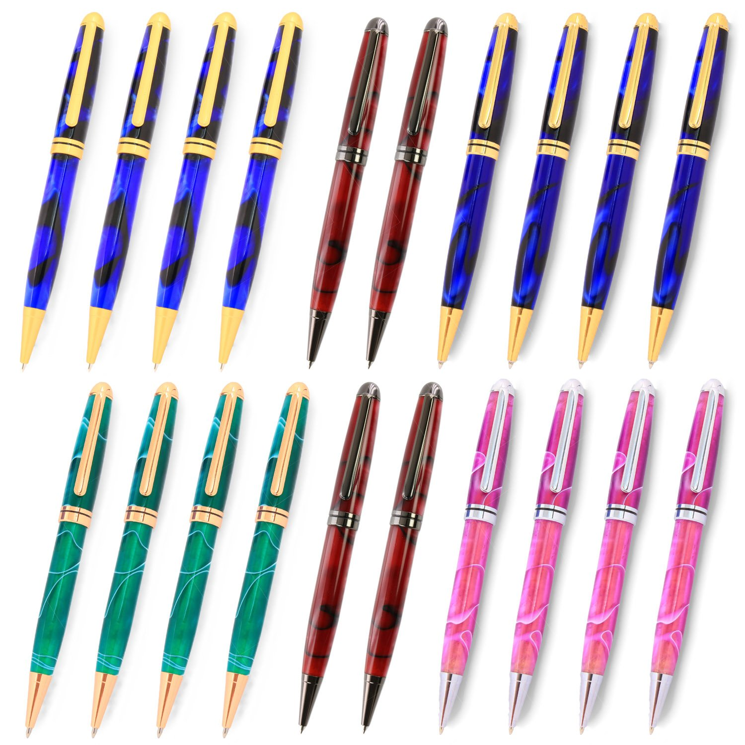 Legacy Woodturning, European Pen Kit, Many Finishes, Multi-Packs