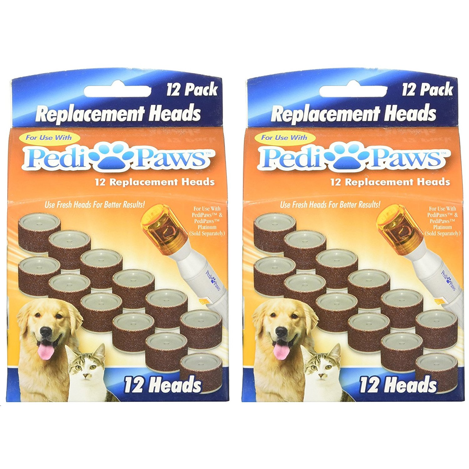 Pedipaws 20 Pack Emery Board Wheels Refill For Pet Nail Trimmer System Telebrands Usa