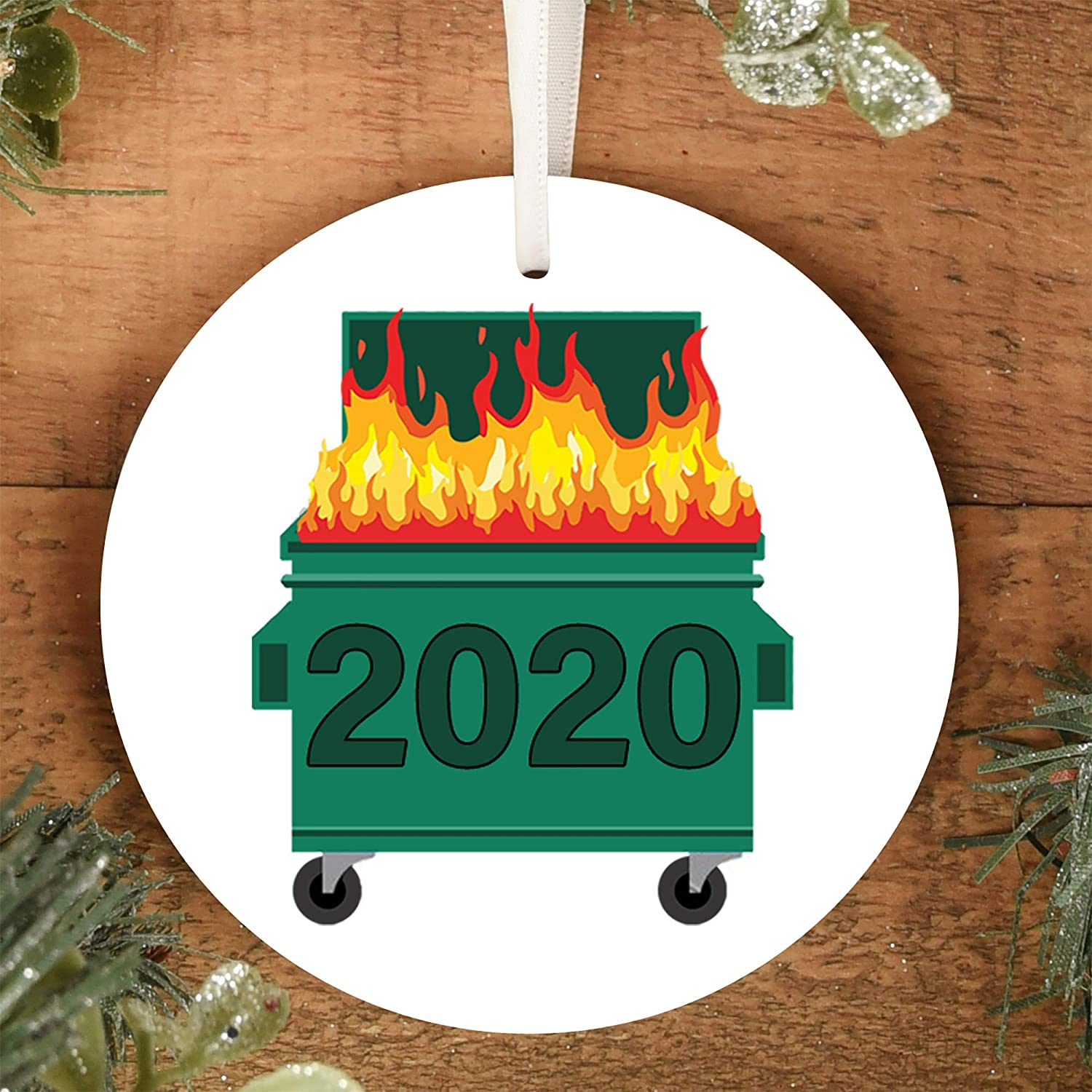 2020 Satin Christmas Year Ornament Amazon.com: Dumpster Fire 2020 Christmas Tree Ornament Comes with