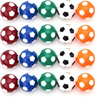 Fasmov Table Soccer Foosballs Replacements Mini Multicolor 36mm Official Foosball - Set of 20