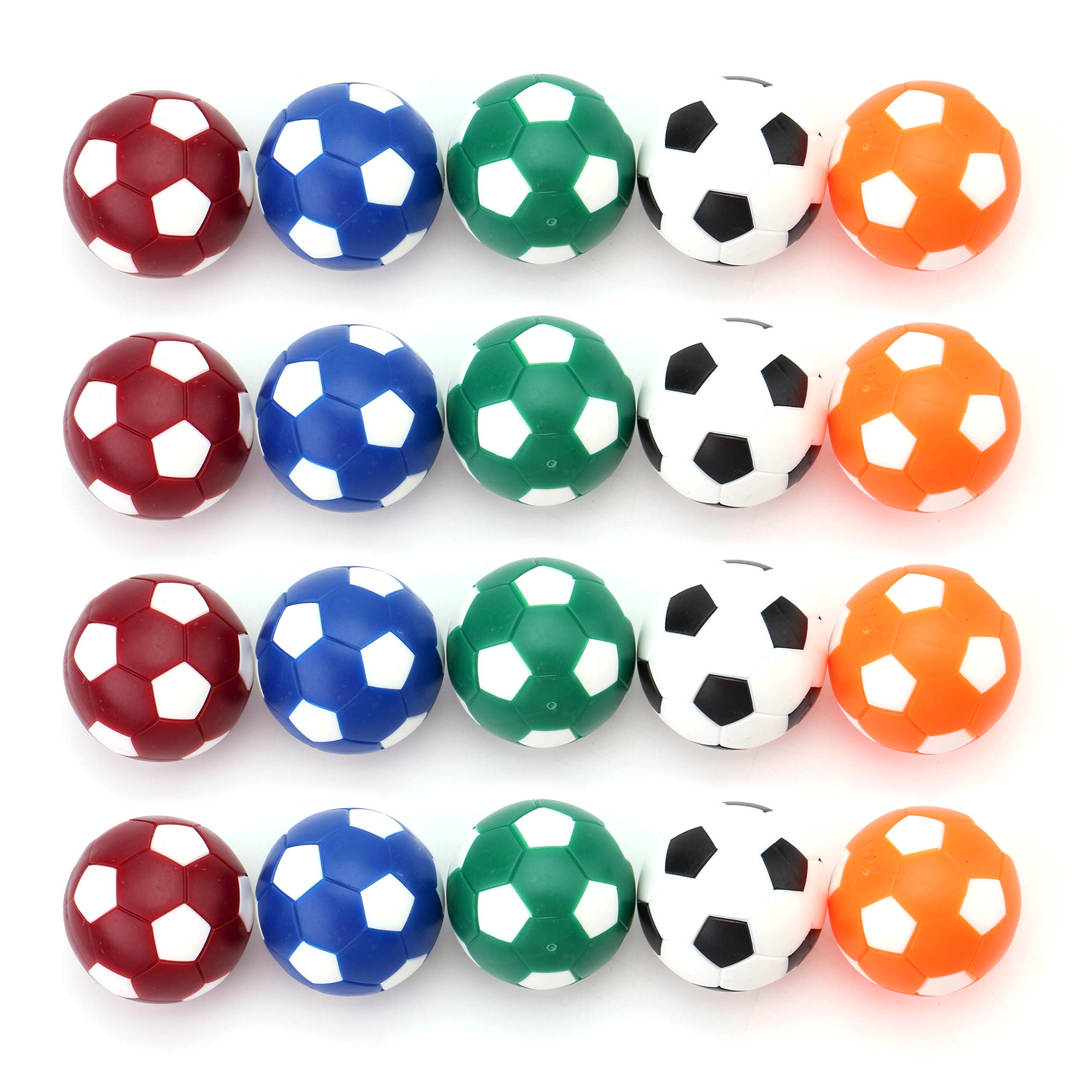 Fasmov Table Soccer Foosballs Replacements Mini Multicolor 36mm Official Foosball - Set of 20 by Fasmov