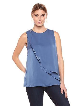 648d3b5713d00d Amazon.com: Amazon Brand - Lark & Ro Women's Sleeveless Tulip Tank ...