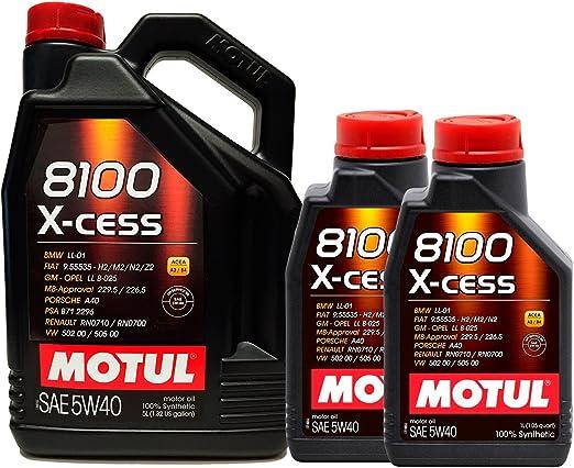Motul 8100 X Cess 5w40 Engine Oil 7 Litres 1 X 5l 2 X 1l Auto