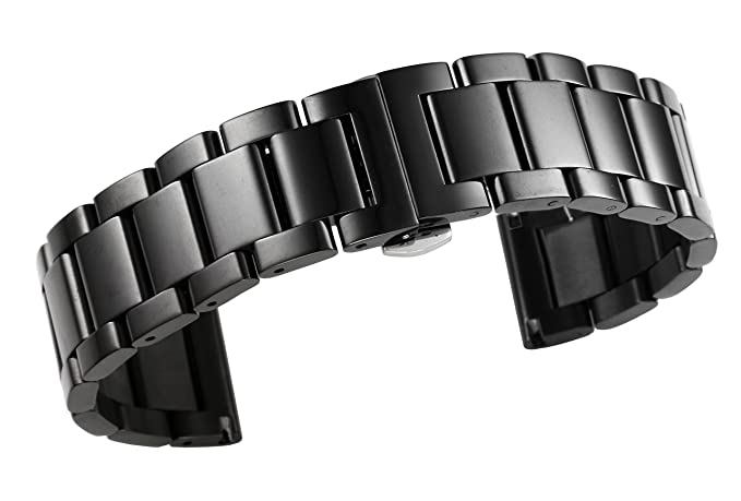 Pulseras de reloj de acero inoxidable de gama alta de las mujeres de 16m m substituyen