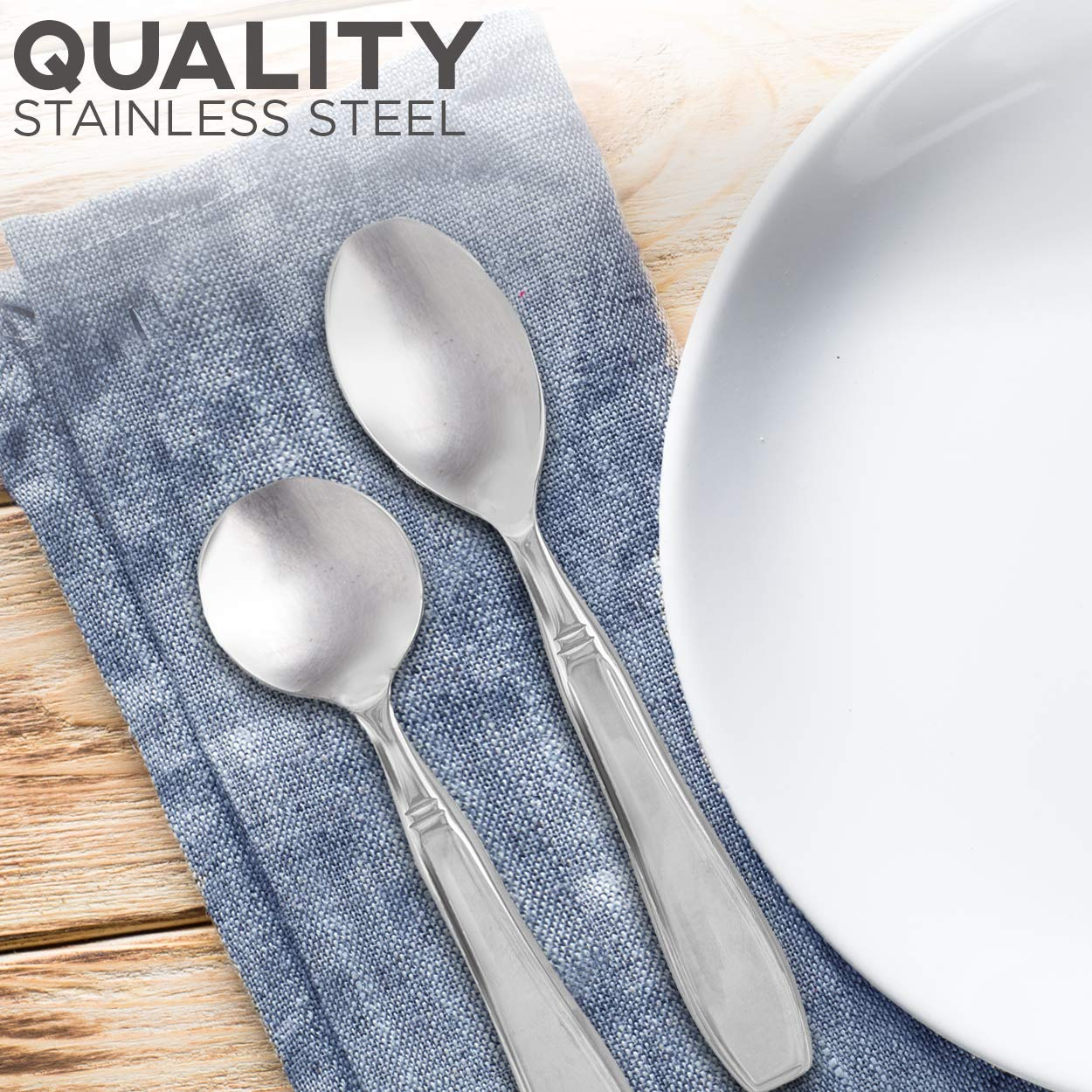Linelax Weighted Utensils for Tremors and Parkinsons Patients - Heavy Weight Steel Silverware Set of Knife, Fork, Teaspoon and Soup Spoon - Adaptive Eating Flatware Helps Hand Tremor, Parkinson, Arthr by Linelax (Image #5)