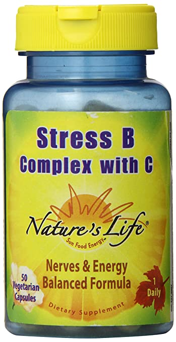 Natures Life Stress B Complex with C, 50 Count