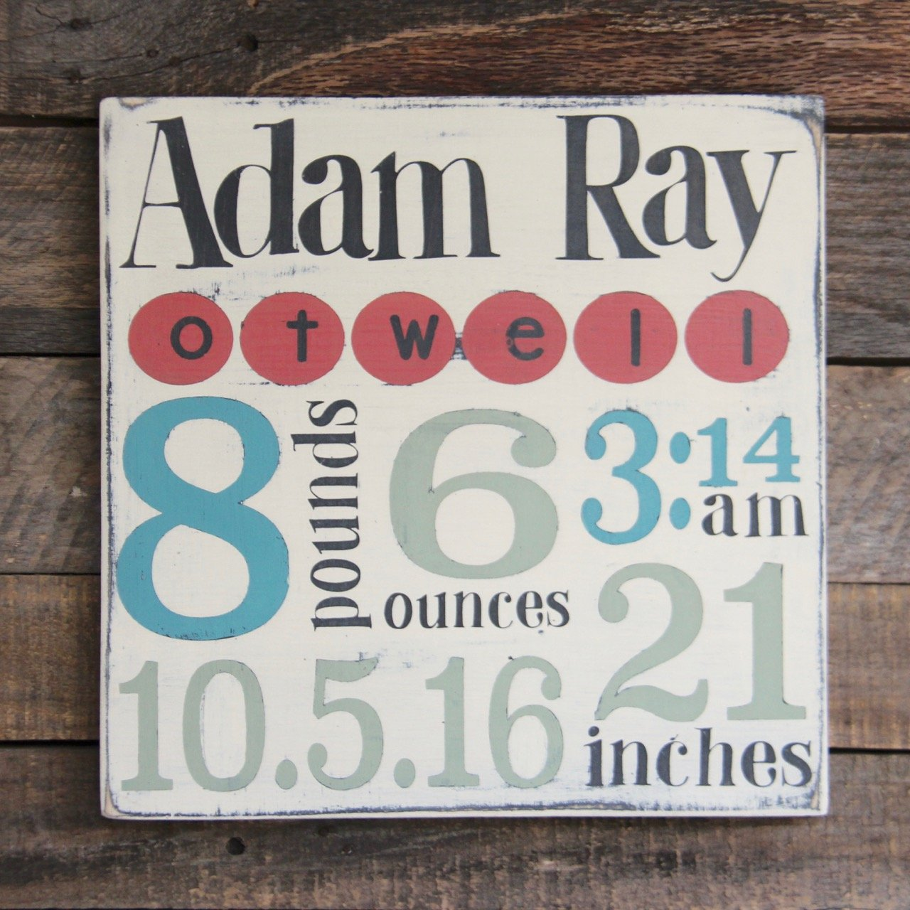 Amazon Com Personalized Baby Birth Wood Sign Personalized Baby