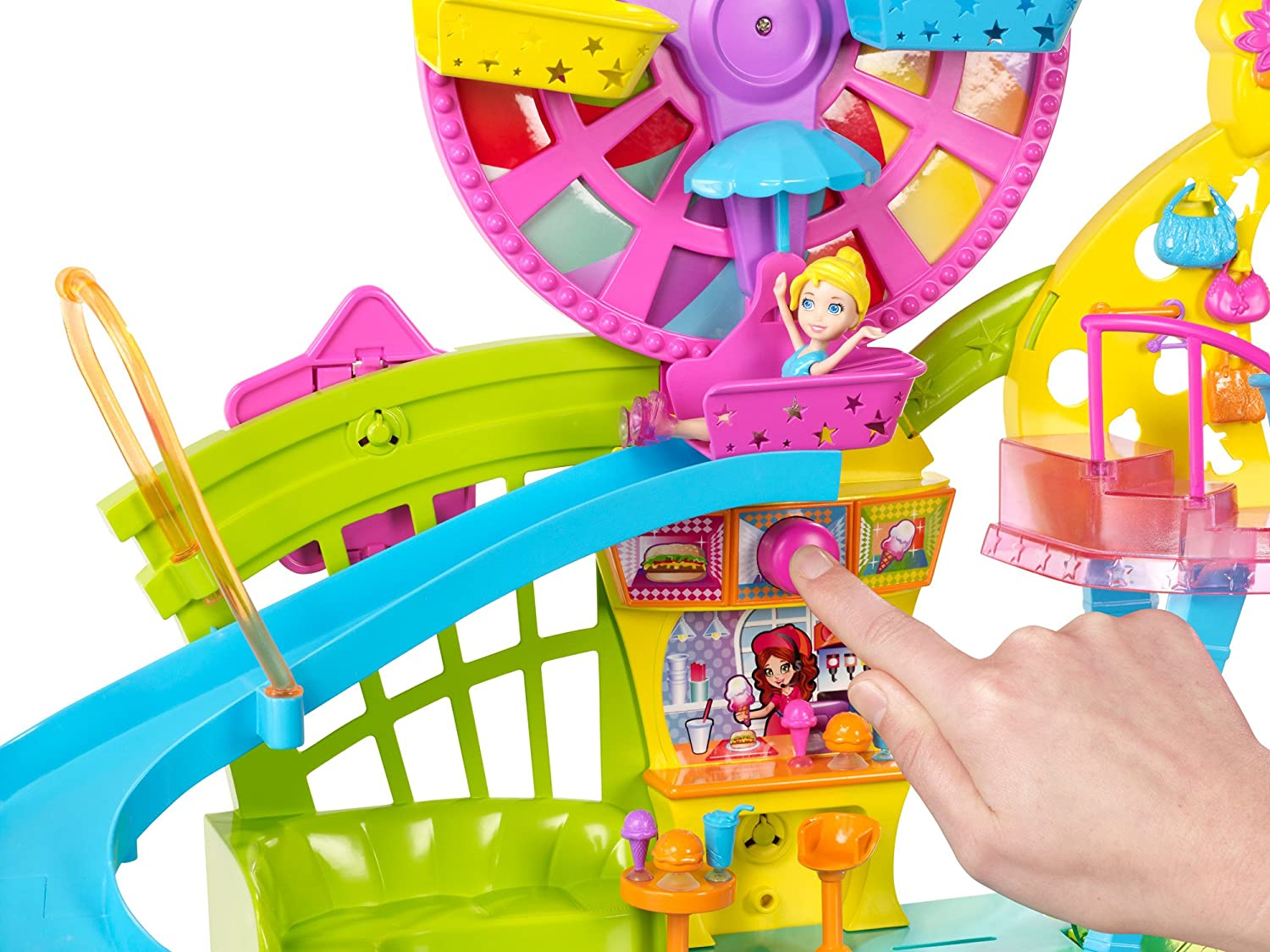 polly pocket wall party mall on the wall amazon co uk toys games