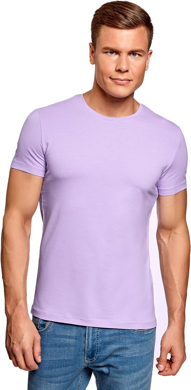 oodji Ultra Hombre Camiseta Básica (Pack de 3): Amazon.es: Ropa y ...