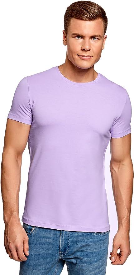 TALLA 52-54. oodji Ultra Hombre Camiseta Básica (Pack de 3)
