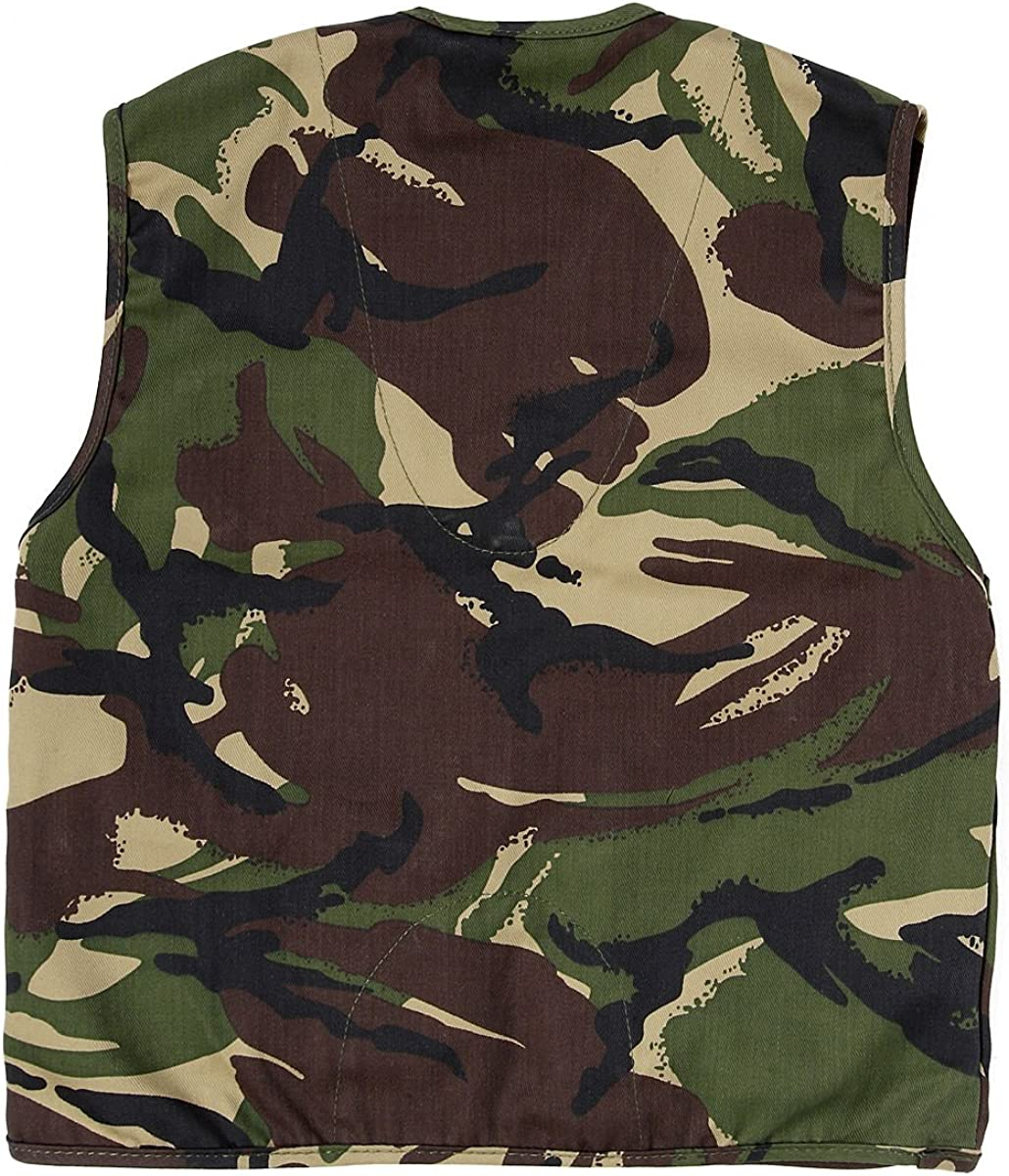 Fits Ages 3-13 Yrs Kids Army Camouflage Multi Pocket Vest Camo