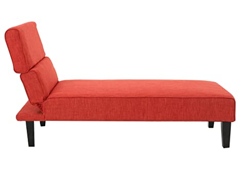 Bernier Lay Flat Adjustable Chaise Lounge (Red)  sc 1 st  Amazon.com : chaise red - Sectionals, Sofas & Couches