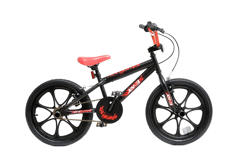 XN BMX 18 7 Spoke MAG Wheel Freestyle Bike Gyro Stunt Pegs Kids Boys Girls