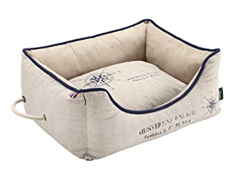 Hunter Sofá de Perro List, 80 x 60 cm, tamaño Mediano, Color Crema