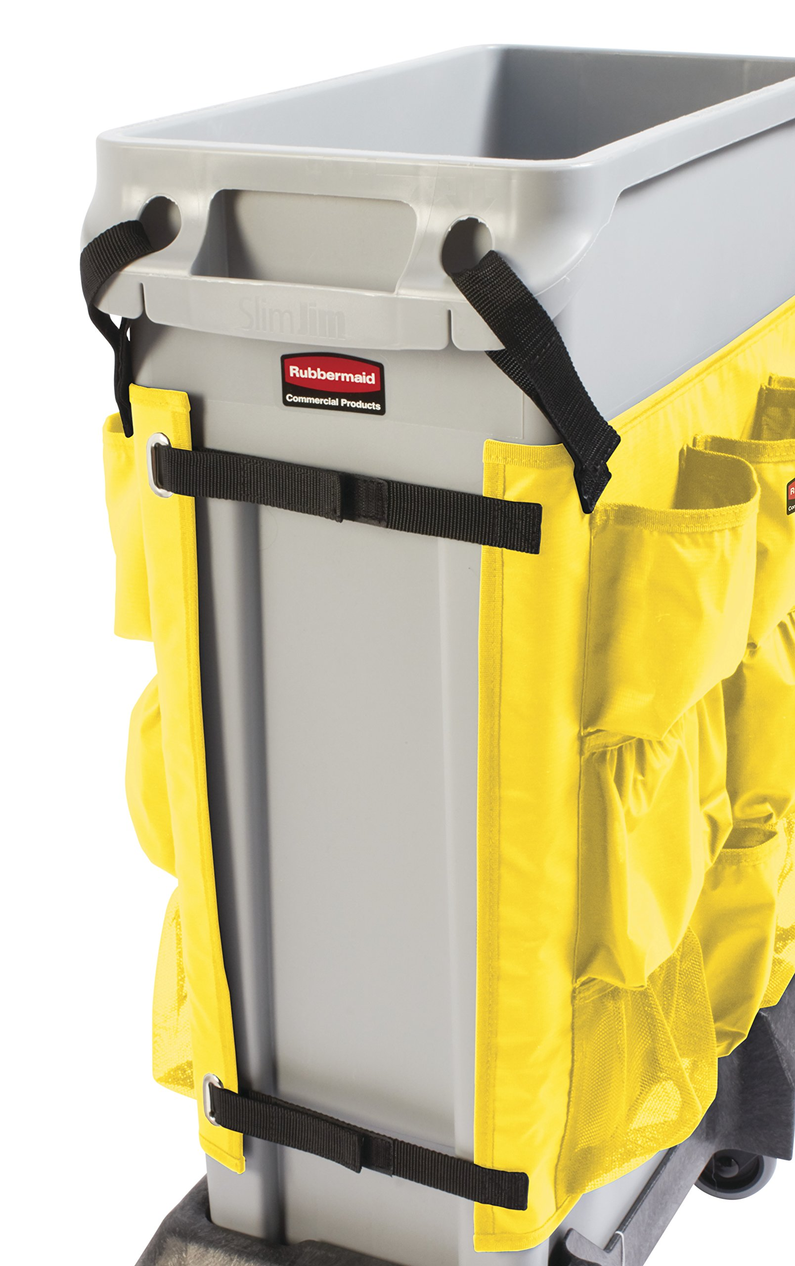 Rubbermaid Commercial Products 2032951 Slim Jim Caddy Bag for 23 gal, Yellow by Rubbermaid Commercial Products (Image #6)
