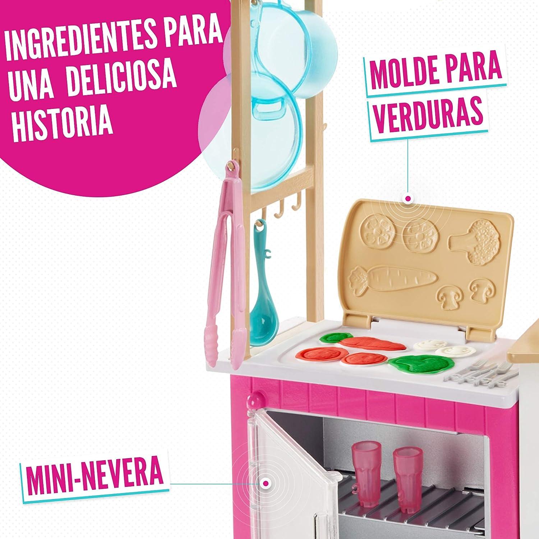 Amazon.es: Barbie Quiero Ser Superchef, cocina con accesorios y ...