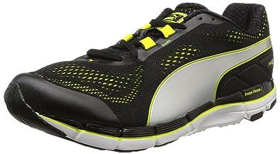 Puma Faas 600 V3, Men's Running Shoes, Multicolor (Black Silver-Sulphur  Spring