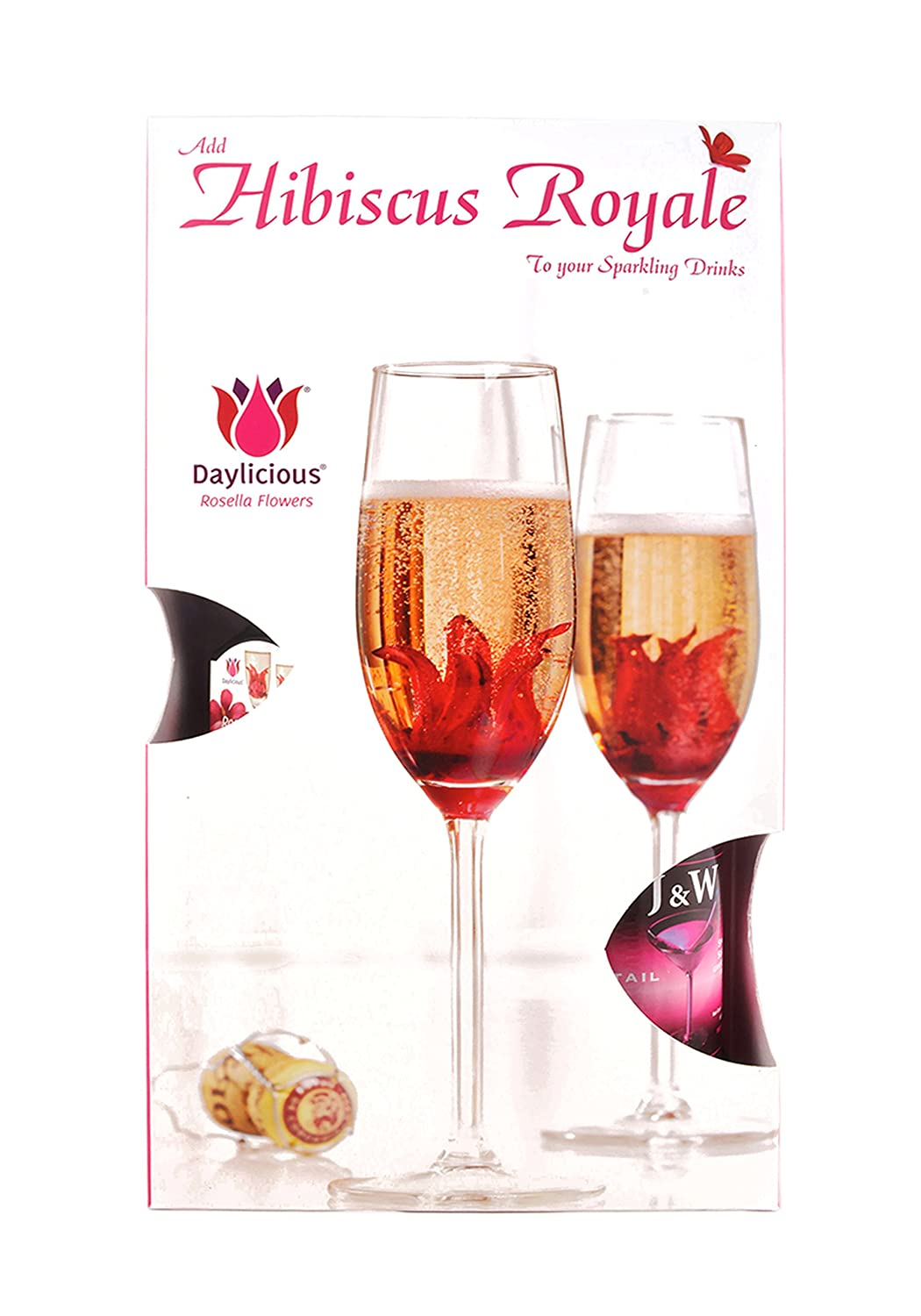 Edible Hibiscus Flower With Sparkling Soft Drink Gift Hamper Amazon