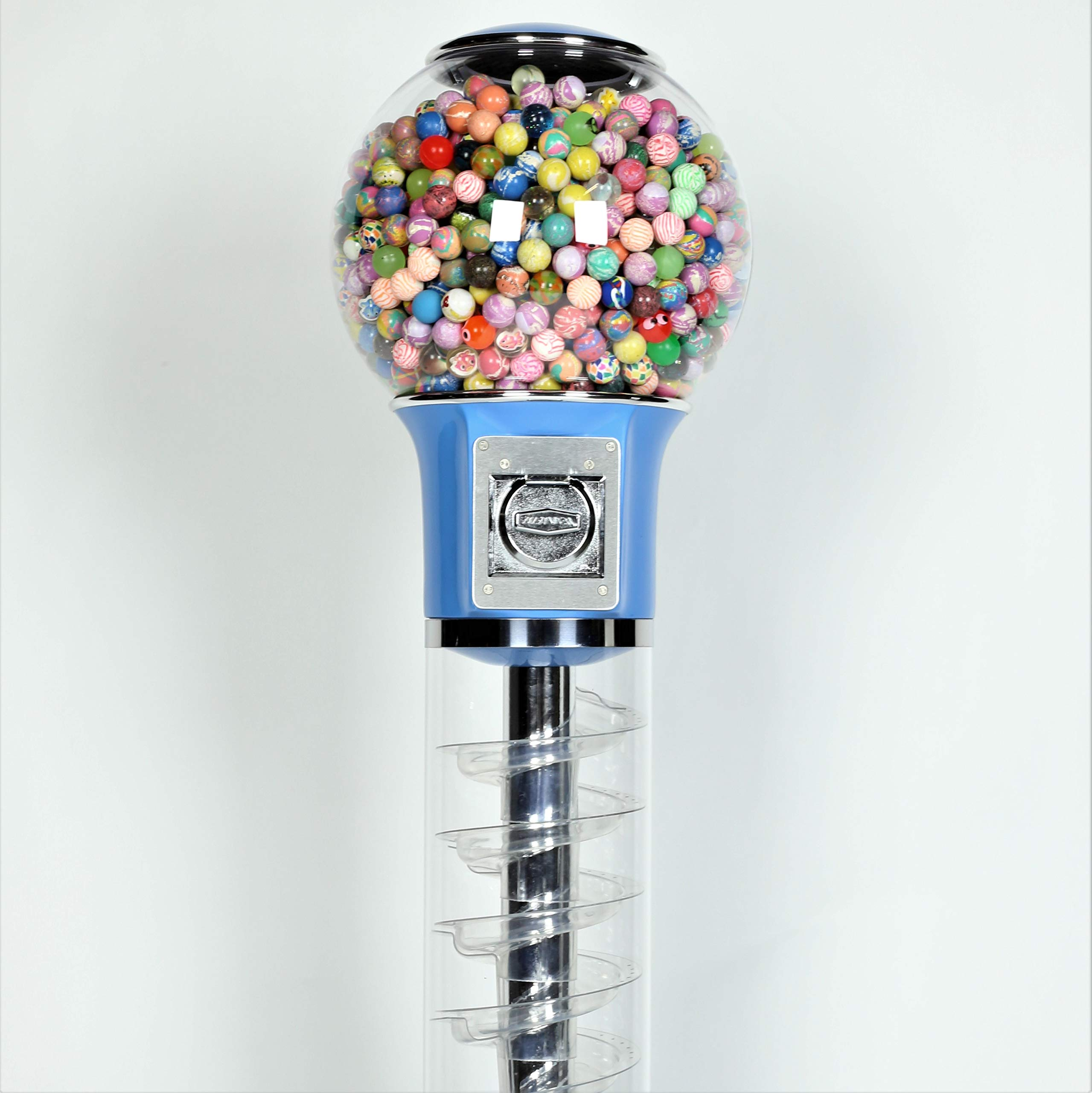 Wiz-Kid Wizard Spiral Gumball Vending Machine Height 4' - $0.25 - (Blue) by Global Gumball (Image #8)