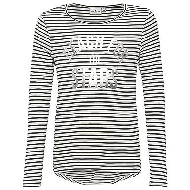 TOM TAILOR f/ür M/ädchen T-Shirts//Tops Gestreiftes T-Shirt mit Volant