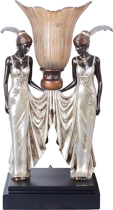 Tischleuchte Art Nouveau Tischlampe Frauenfigur Leuchte Nachttischlampe Lampe