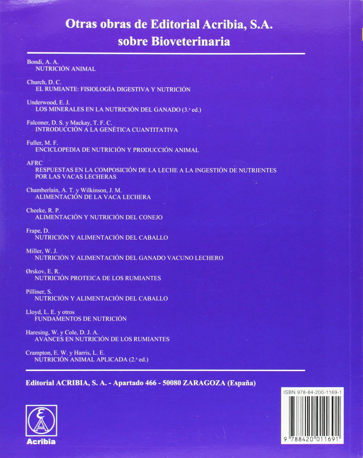 Nutrición animal: Amazon.es: Peter McDonald, Rafael Sanz ...